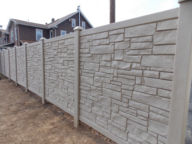 Stone look sillettco fence